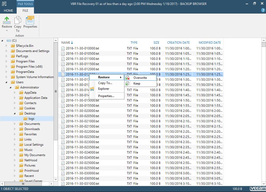 Veeam Backup Browser