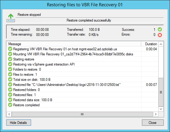 VBR File Recovery